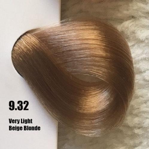 Coloração em Creme Extremo, Cor Louro Claríssimo Bege 9.32, 100ml