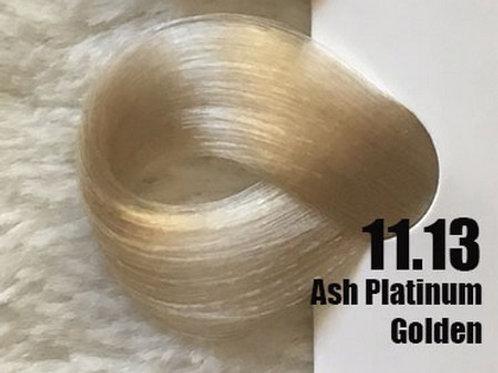 Coloração em Creme Extremo, Cor Louro Platinado Cinza Dourado 11.13, 100ml