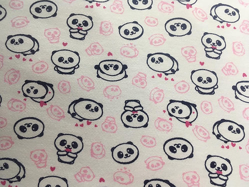 Moletinho Estampado Panda Rosa