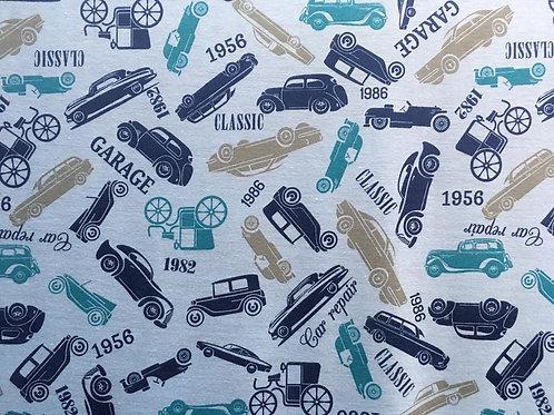 Malha Estampada Classic Garage Azul