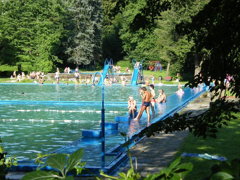 Соревнования в открытом бассейне