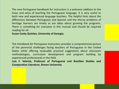 Coming soon: A Handbook for Portuguese Instructors in the U.S.