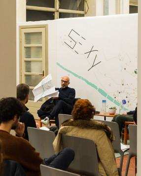 Sergio Risaliti, presentazione di 50100 presso Manifattura Tabacchi, Firenze