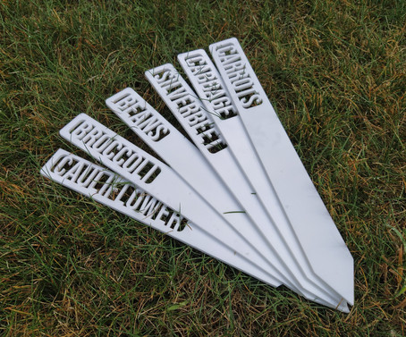 Acrylic Vegetable Garden Markers 6 Pack