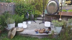 gong set up garden