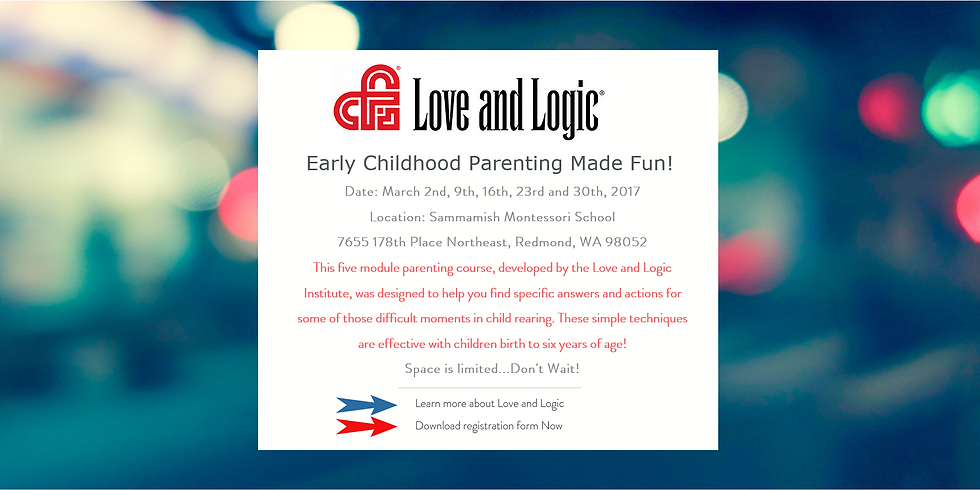 Love and Logic Early Childhood Parenting Made Fun!