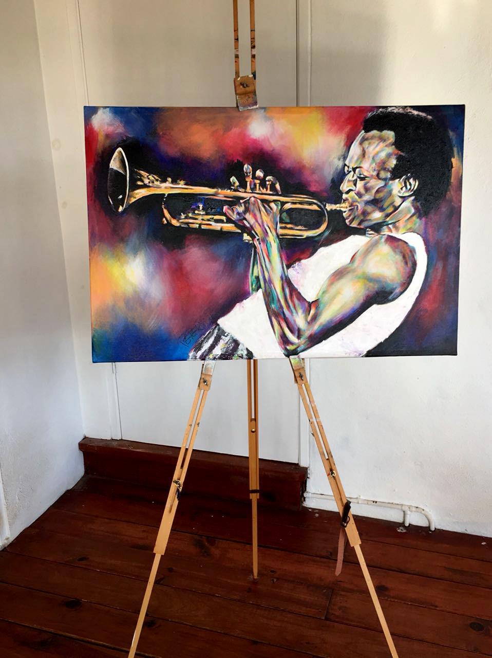 Bied nu op dit mooie schilderij van Miles Davis!