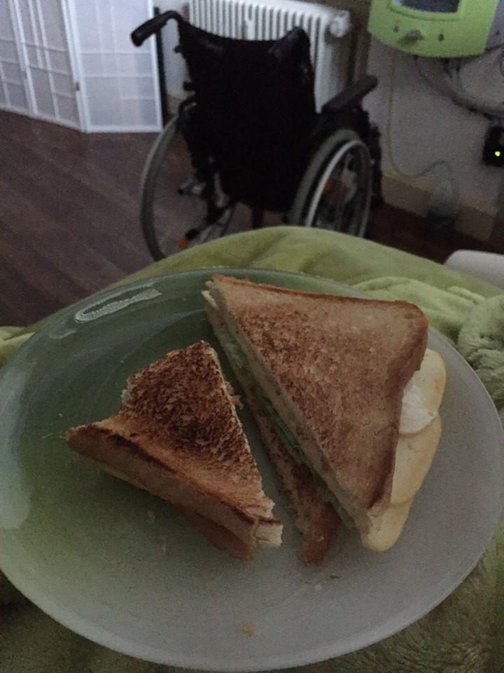 Sandwich speciaal voor Alicia