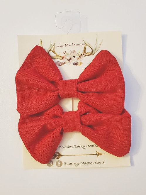 Red Pigtail Set