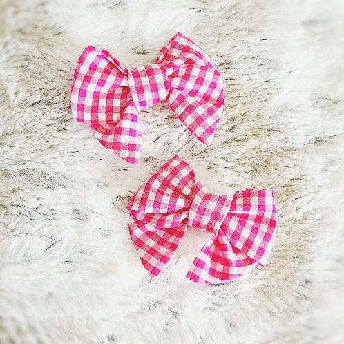 Pink Gingham Mini Piggies