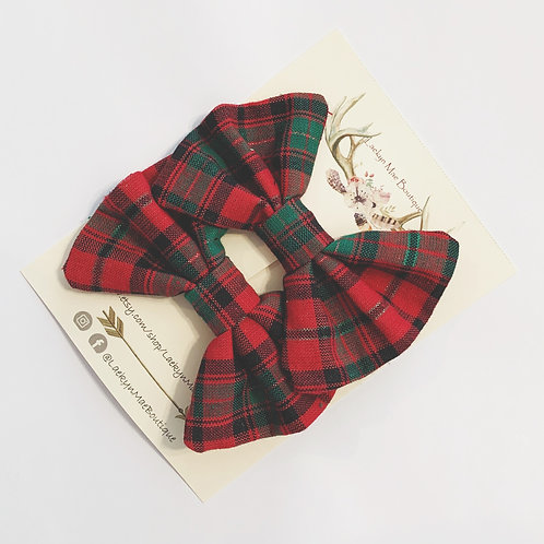 Holiday Plaid Pigtail Set