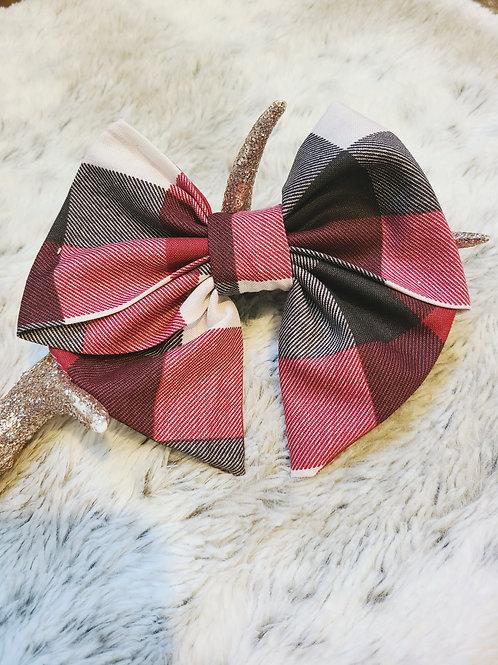 Christmas Plaid Sailor Bow