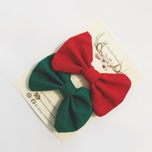 Red and Green Pigtail Set