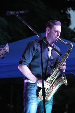 Matthew Alec saxophone - Headlining Akron Porch Rokr 2014