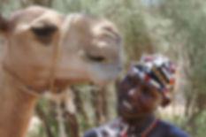 1, Burian loves his camel.JPG