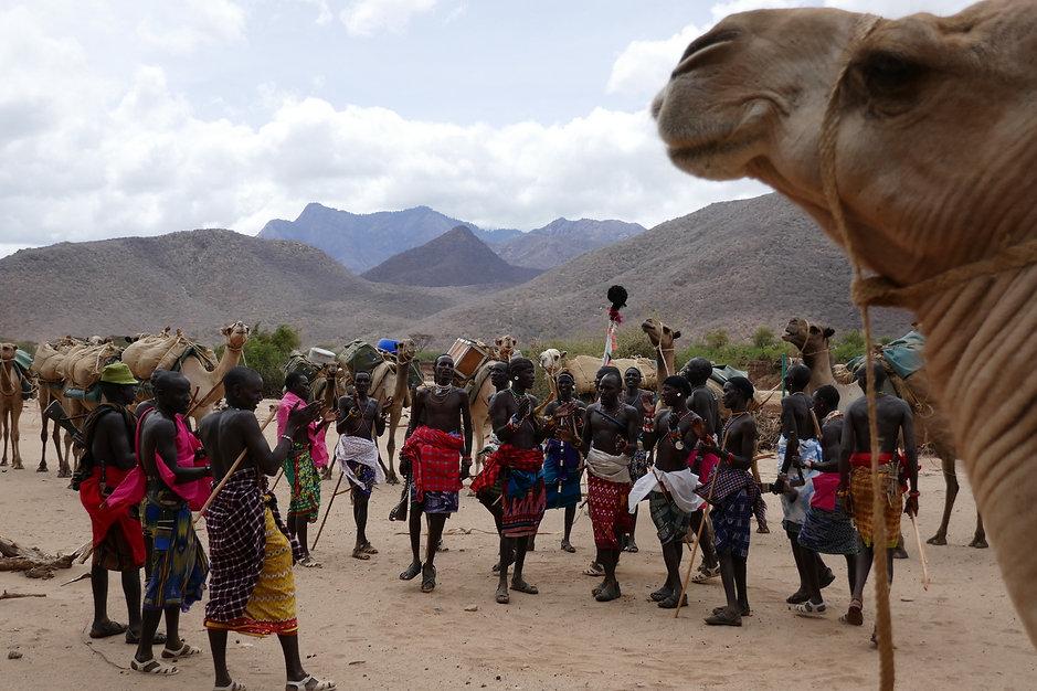 1, Camel and a dance on the lugga.JPG