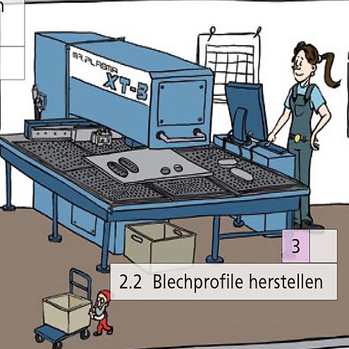 Werkstatt herstellen von Blechprofilen.j