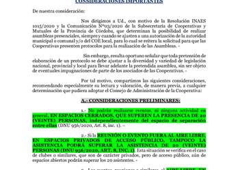 Pautas a considerar en el protocolo de realización de Asambleas Presenciales