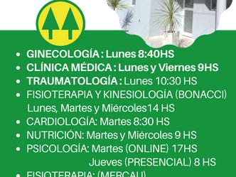 Se reanudaron las prestaciones en los Consultorios Médicos