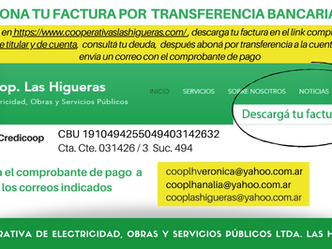 Pago por transferencia bancaria