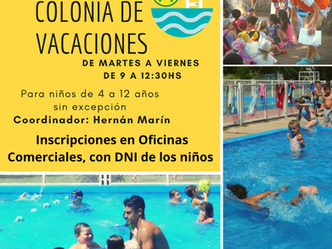 Inscripciones Abiertas para la colonia de vacaciones