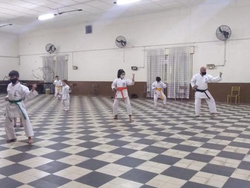 La Escuela de Karate retomó sus entrenamientos