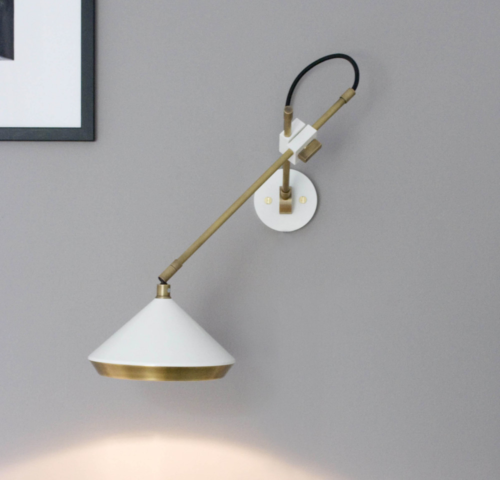 SHEAR+BRASS+WHITE+WALL+LIGHT+IN+SITU+-+shown+hardwired.jpg