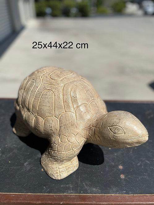 Terracotta tortoise ornament sm wh