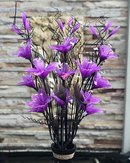 Low voltage flower light arrangement LBpurple