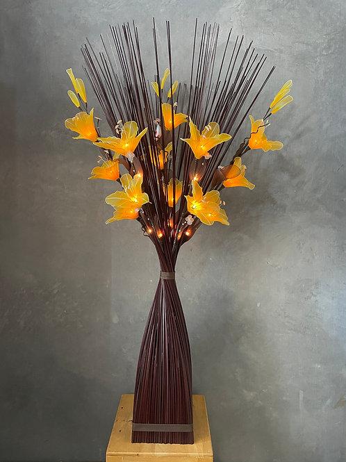 Sq brown  ,  Yellow  Lily bird light