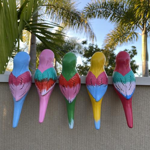 Ceramic bird ornament XLG x 5 pcs