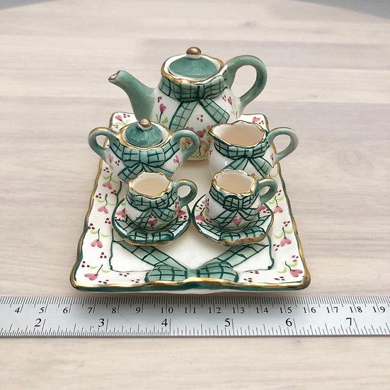 Miniature ceramic tea set #8