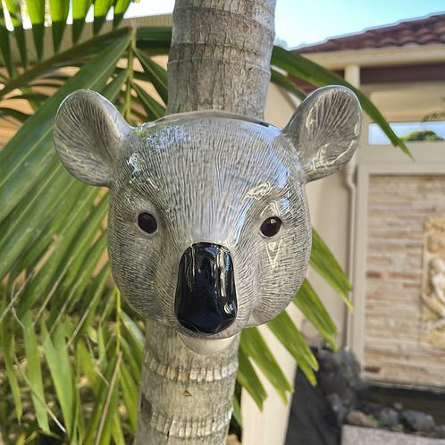 Wall hung ceramic koala vase lg