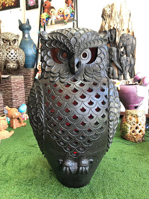 XLG terracotta owl ornament
