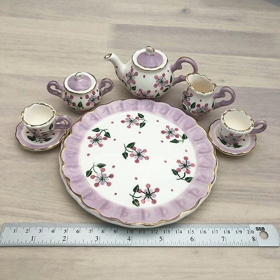 Miniature ceramic tea set #14