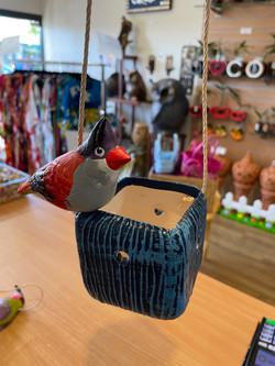 Ceramic fruit bird planter
