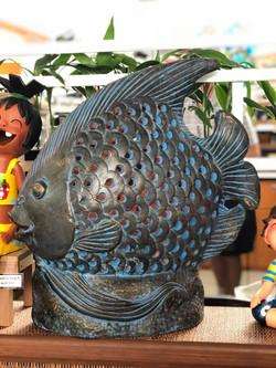Terracotta fish lg blue