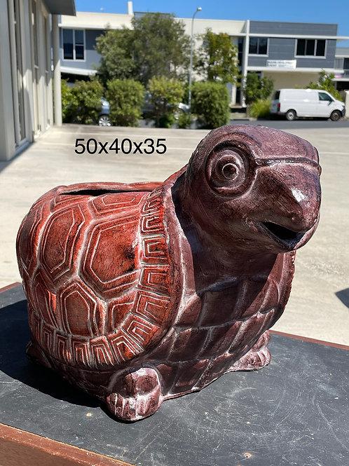 Terracotta tortoise planter lg