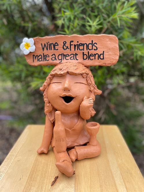 Terracotta head sign wine