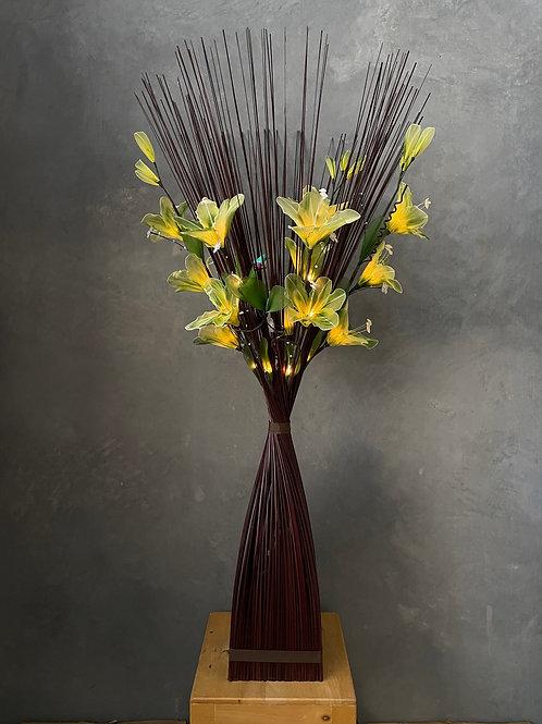 Sq brown  ,  Lime green  Lily bird light
