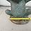 Thumbnail: Terracotta standing frog bird bath green