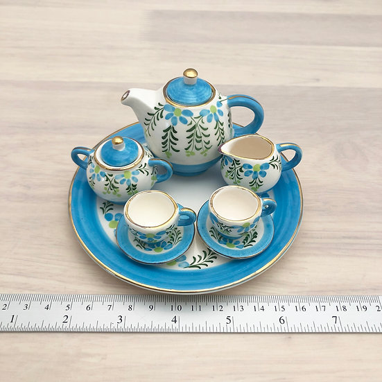 Miniature ceramic tea set #6
