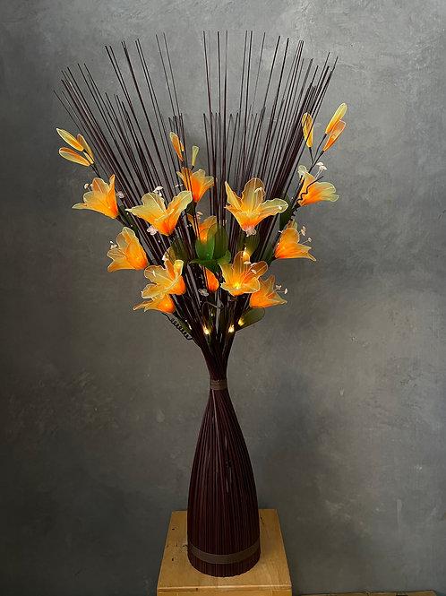 Round brown,  Orange  Lily bird light
