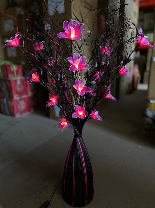 Curly stick black pink  ,pink light