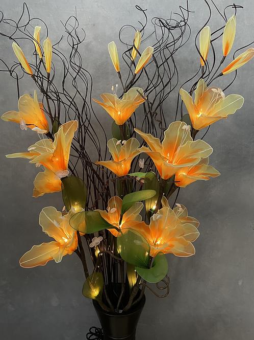 "Flower light arrangement  with 5""x14""vase"