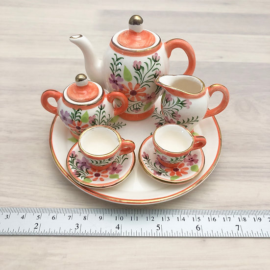Miniature ceramic tea set #4