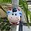 Thumbnail: Wall hung ceramic cow vase