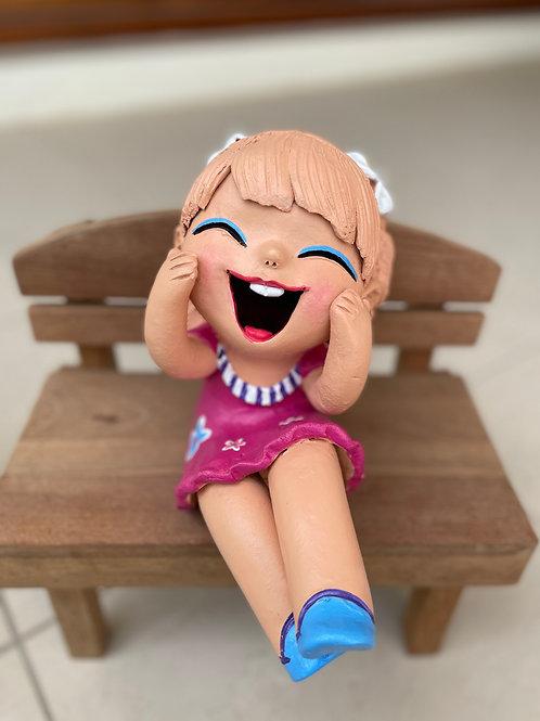 Terracotta doll pink girl