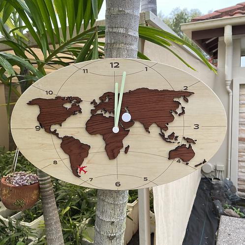 World map clock sm