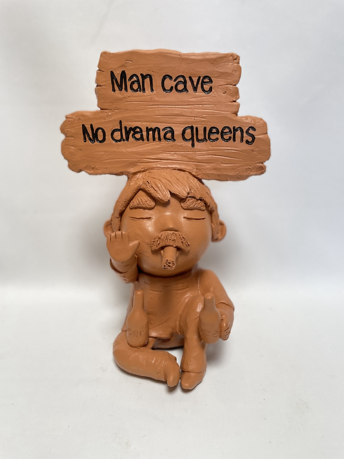 Terracotta head sign
